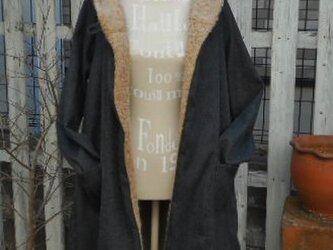 Soldout ふかふか起毛ウールのあったかフーデットコートの画像