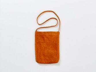 レザー ショルダーバッグ S オレンジ | メンズ レディース 豚革 クラッチバッグ 2WAY プレゼントの画像