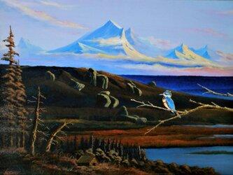 アラスカの夕焼けの画像