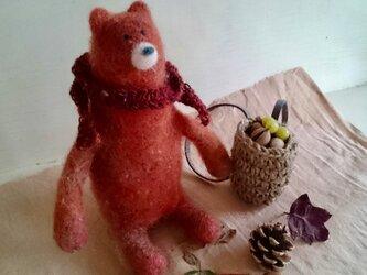 羊毛フェルトのクマさん〜冬支度〜の画像