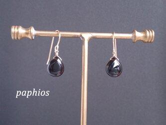 [ピアス・イヤリング] 黒水晶AAA (ロシア産モリオン)の画像