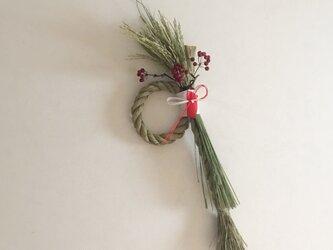 稲穂のお正月飾りの画像