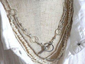 淡水パールのsilverロングネックレスの画像