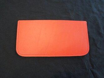 シンプル 赤い札入れ 財布 本革 BOSSA革工房 BS1の画像