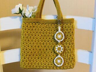 リフ編みのミニトートバッグの画像