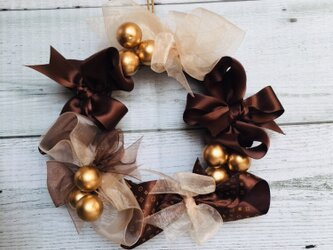 *リボンリース★クリスマス ブラウンVer.*の画像