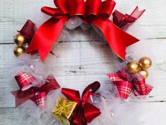 *リボンリース★クリスマス ホワイトVer.*の画像