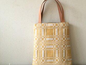 bag[手織りAライン手提げバッグ]イエローの画像