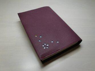 ゴートスキン・文庫本サイズ・「HANABIRA」シリーズ・一枚革のブックカバー0249の画像
