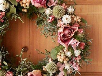 atelier blugra八ヶ岳〜バラと小花のWreathの画像