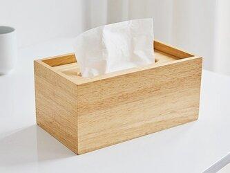 受注生産 職人手作り ティッシュカバー ティッシュボックス 収納 北欧家具 天然木 無垢材 木目 木製雑貨 LR2018の画像