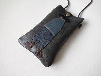 annco leather mobile case (dark gray)の画像