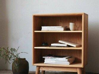 オーダーメイド 職人手作り オープンシェルフ 収納棚 シェルフ 絵本棚 家具 天然木 無垢材 おうち時間 LR2018の画像
