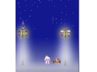 「待ちぼうけ」 ほっこり癒しのイラストポストカード2枚組No.672の画像