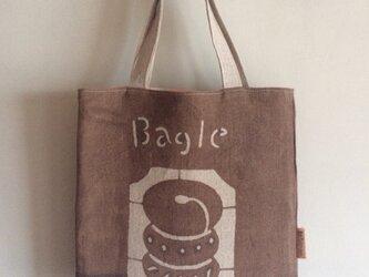 ☆sale☆柿渋染めお買い物バッグ ベーグルの画像