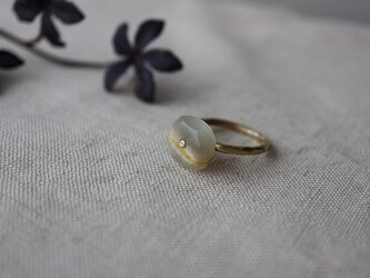 For your Christmas*Brass Point Ring*ホワイトムーンストーン*真鍮リングの画像