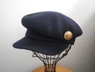 ウールのマリンキャスケット(ネイビー60)の画像