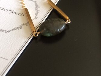 14kgf Labradorite Oval necklaceの画像