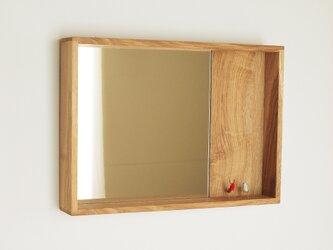 木製 箱鏡 楢材3の画像