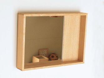木製 箱鏡 タモ材1の画像