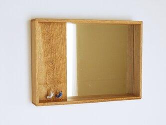 木製 箱鏡 楢材4の画像