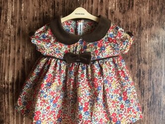 ダッフィーサイズのお洋服 リバティワンピースの画像