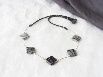 Zebra Square Necklaceの画像