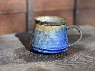 窯変マグカップ 青  1点ものの画像