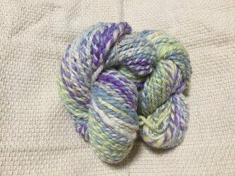 【手紡ぎ糸(スピンドル)の販売です✨】  メリノウール シルク その他 92gの画像