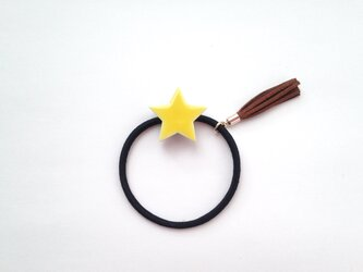 星タイルのヘアゴムの画像