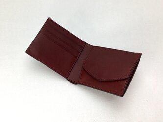 二つ折り財布 hako Wineの画像