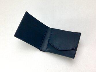 二つ折り財布 hako Navyの画像