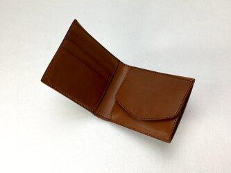 二つ折り財布 hako Brownの画像