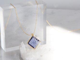 【14KGF】 Necklace, Diamond-Shaped Iolite Quartzの画像