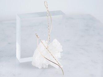 【Minimalism】14KGF Earrings,Spiral -A-の画像