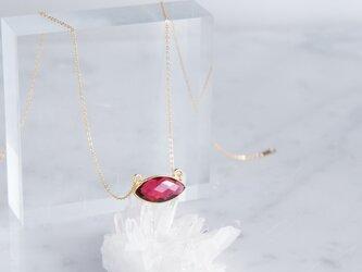 【14KGF】 Necklace, Rubellite Quartzの画像