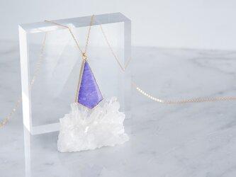 【14KGF】Long Necklace,Kite-Shaped Charoite Quartzの画像