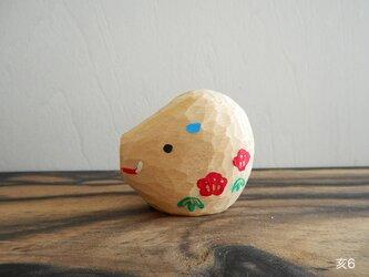 木彫り 亥6の画像