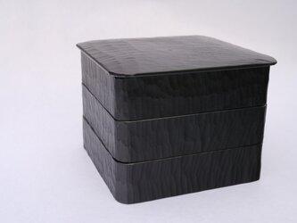 #0191 三段重箱 黒の画像