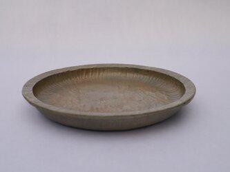 丸リム皿237 白茶 おにぐるみ #0193の画像