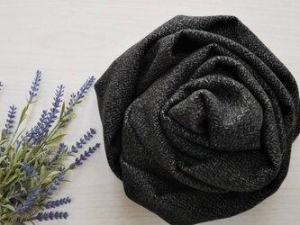 カシミヤ100% 黒×グレー系の画像