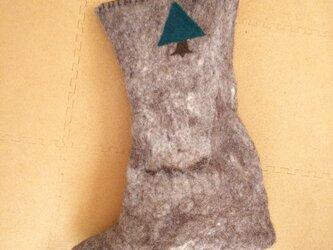 ブーツ型抱き枕の画像