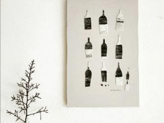 壁掛け・版画コラージュ【ワイン】の画像