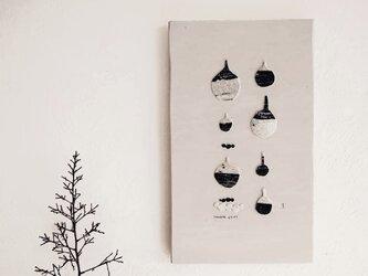 壁掛・版画コラージュ【小さな壺】の画像