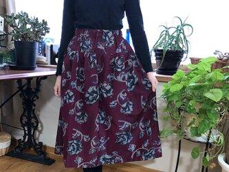 銘仙羽織裏付きスカート記憶の中のお花たちMの画像