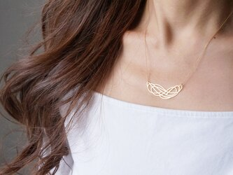 【Israel】14KGF Necklace,Abstract-002- の画像