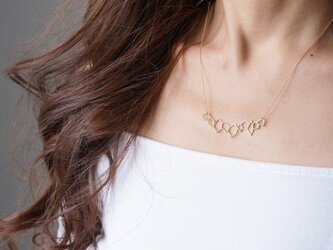 【Israel】14KGF Necklace,Abstract-005- の画像
