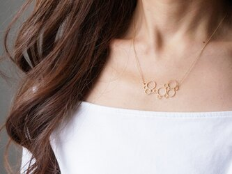 【Israel】14KGF Necklace,Abstract-001- の画像