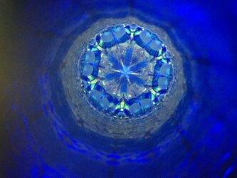 青い結晶*オイルワンド万華鏡の画像