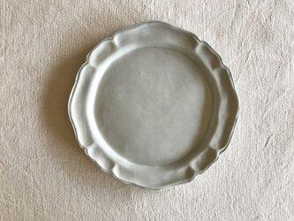 墨グレー洋皿8寸の画像